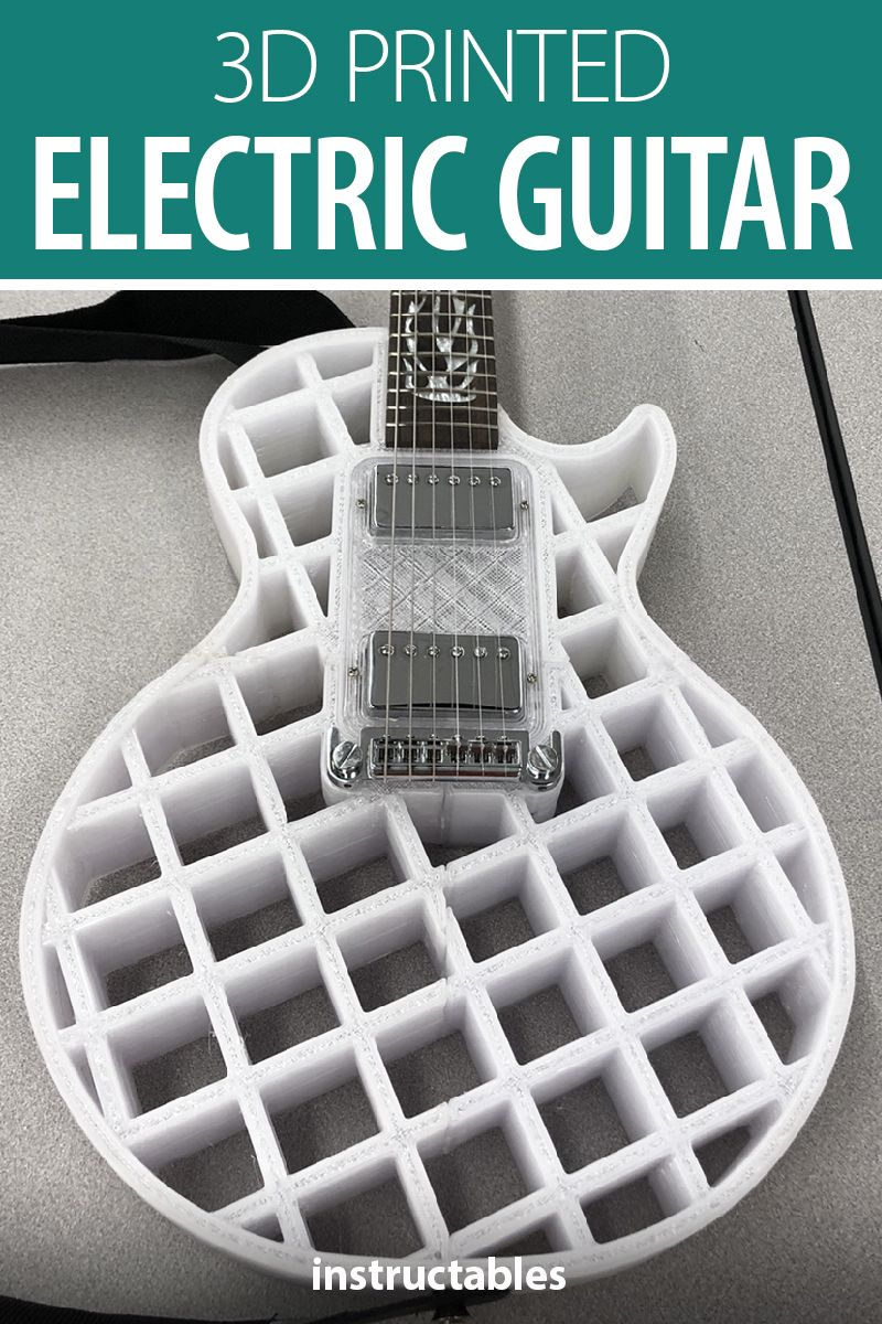 3d Printed Electric Guitar In 2020 3d Printing Art Guitar 3d Printing