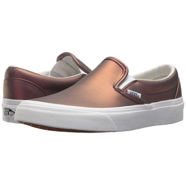 3f29521657f0a2 Vans Classic Slip-Ontm ((Muted Metallic) Red Gold) Skate Shoes (195 ...