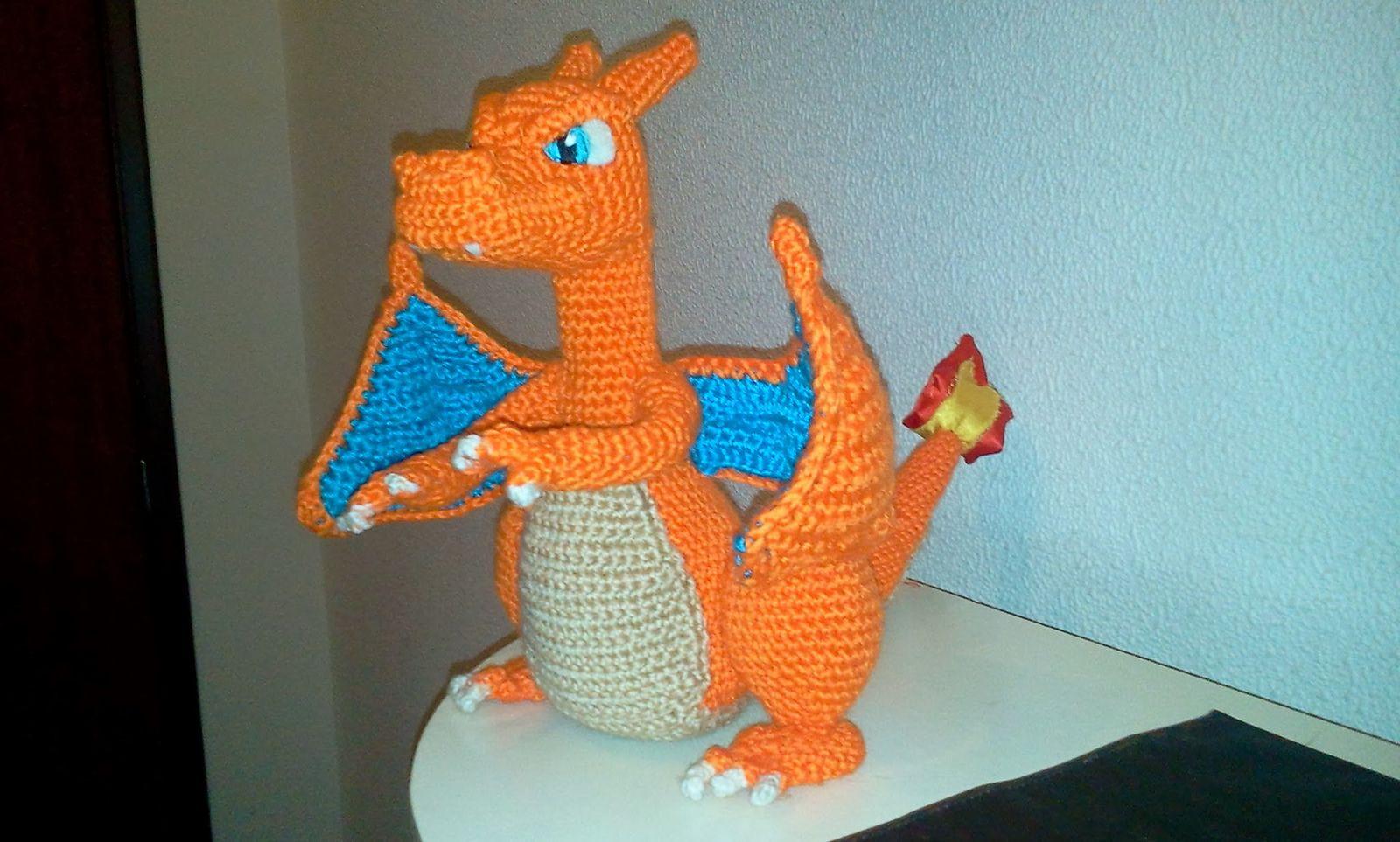 Charizard Pattern | Drachen häkeln, Häkeln dinosaurier, Lustiges ... | 963x1600