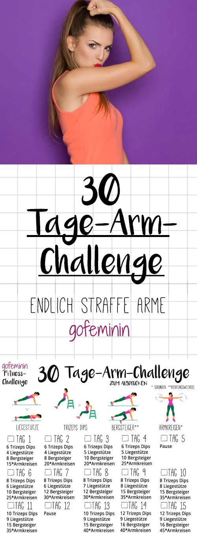 30 Tage Arm-Challenge: Sag den schlaffen Winkearmen den