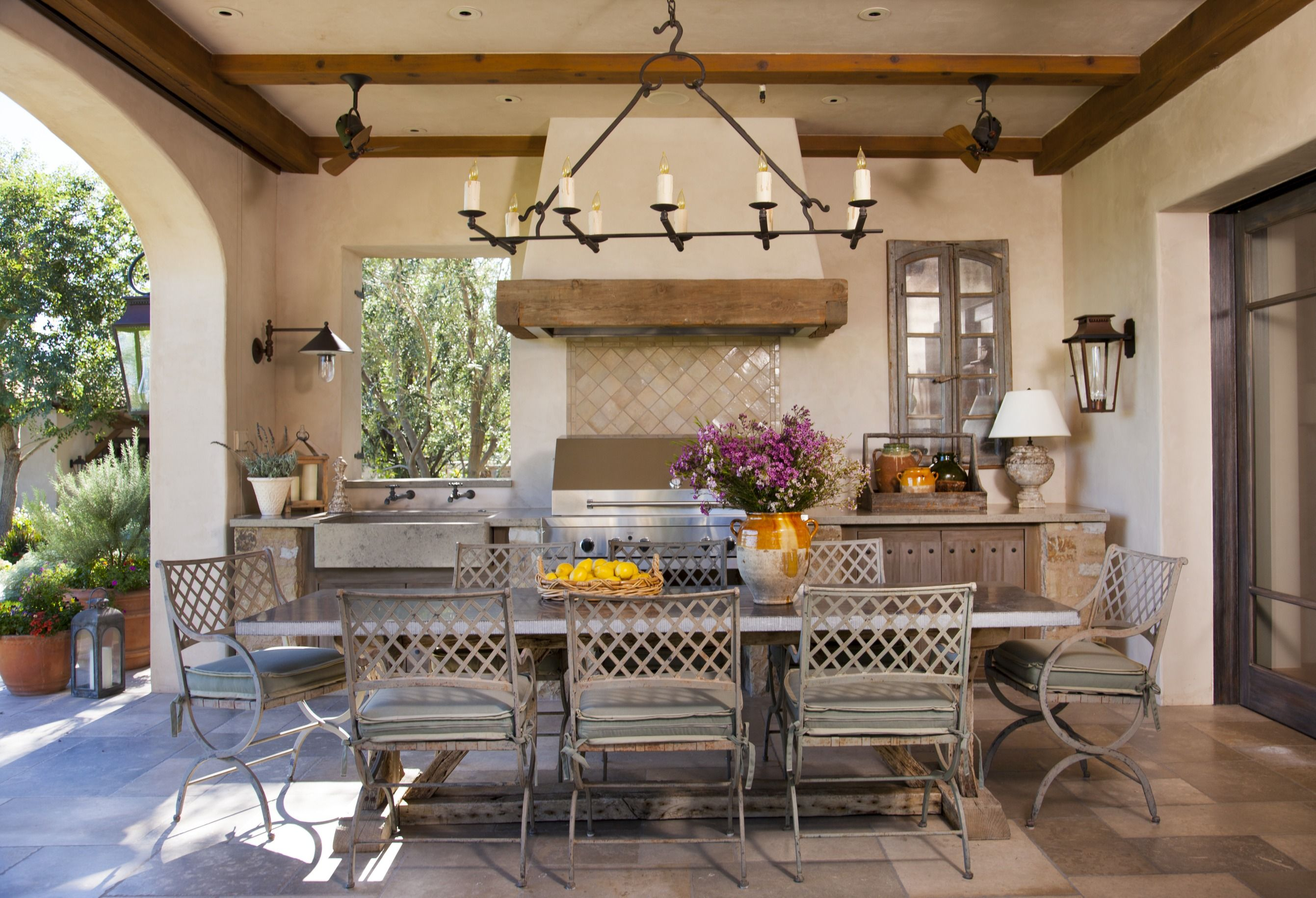 Country French Loggias In 2019 Outdoor Living Outdoor Kitchen