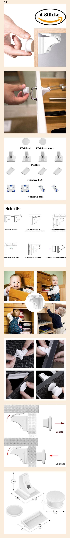 10er Pack Norjews Kindersicherung Schrank Baby Sicherheit Schrankschloss Ohne Bohren und Schrauben Unsichtbare Kindersicherung f/ür Schrank und Schubladen
