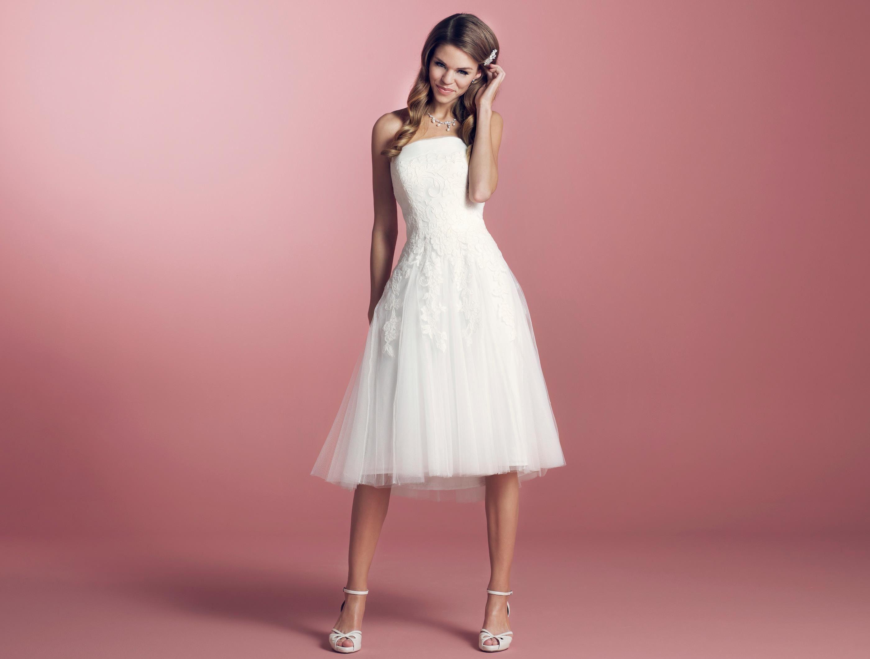 Lilly Cr Erste BrautkleidIch 3244 08 Das By Diamonds Kurze OPw08kn
