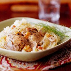 Fennel-and-Pear Chicken Thighs