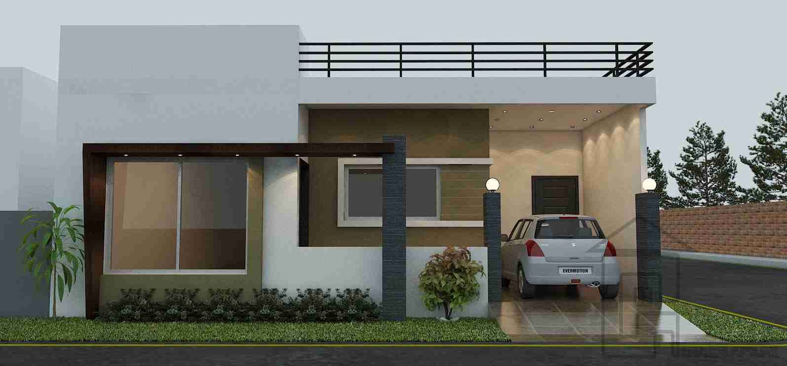 Front Design Of House Construction In India Part - 40: Indian House Front Boundary Wall Designs - Google Search