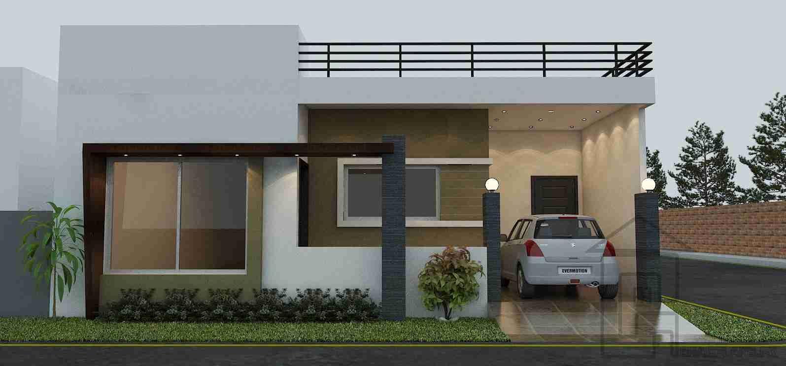 Single storey house design front elevation. Single storey house design front elevation   House Elevation