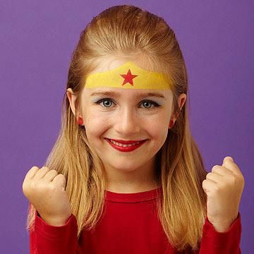 <p>Girl power! Show the world your true skills with this fun and fresh take on a standard. Bright colors and a painted-on headband will make sure your crime fighter stands out.</p>