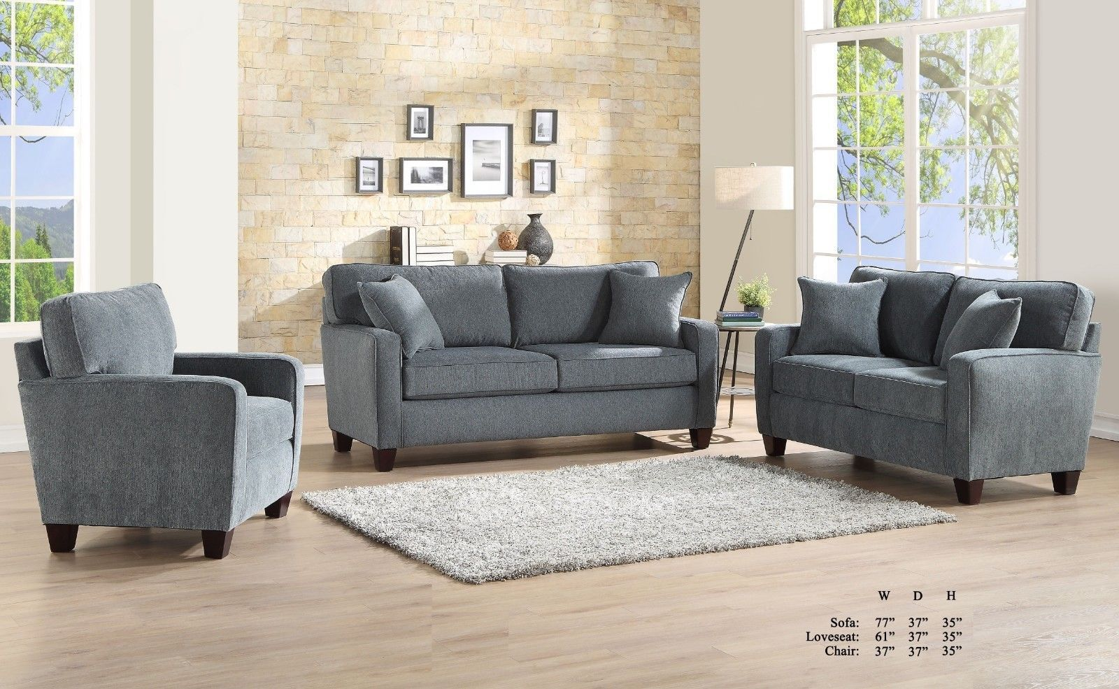 Sofa Loveseat Chair 3pc Sofa Set Gray Fabric Living Room Furniture Couch Set Sofa Living Ideas Of Sofa Living Sofaliving Sofa Sofa Loveseat Chair Sofa