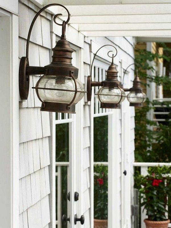 très bel éclairage dans les idées de conception de jardin extérieur