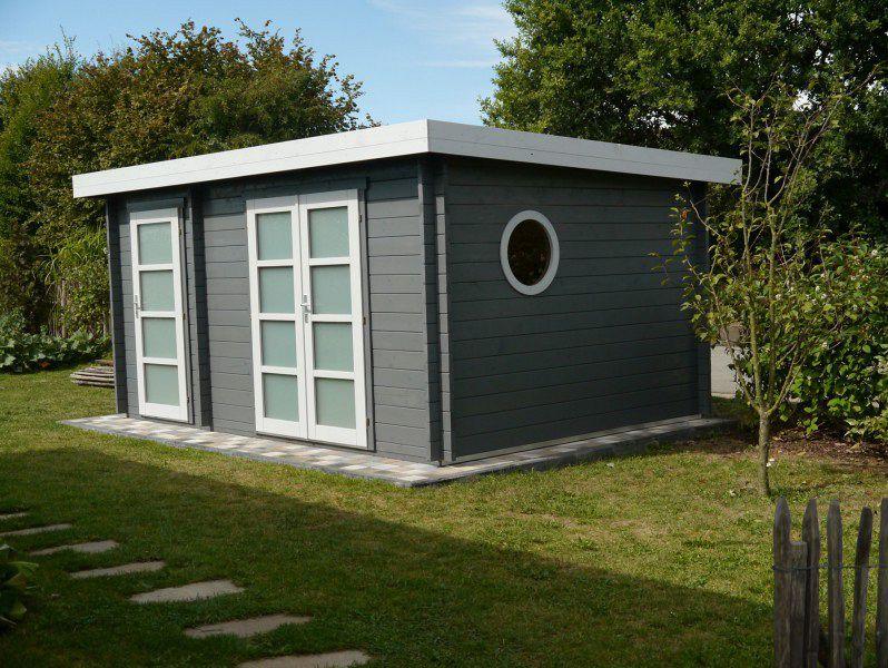 Moderner Geräteschuppen gartenhaus grau weiß moderner gartentrend mit stil gartenhäuser