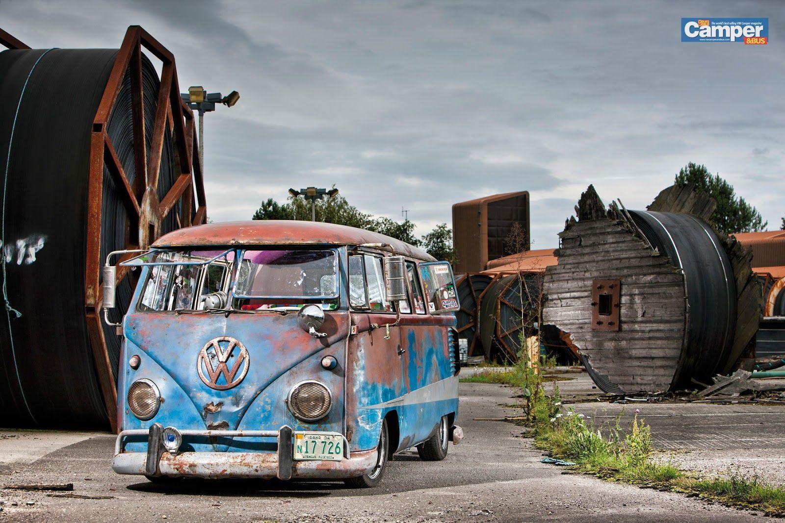 Rusty Campervan Vw Carros Carro Kombi Kombi