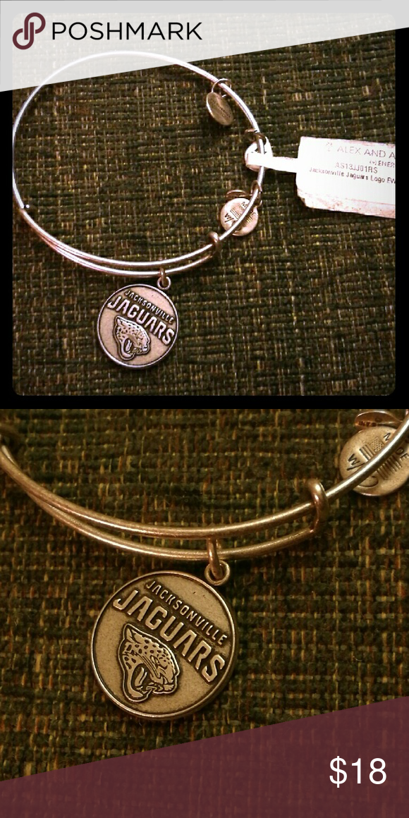 Alex and Ani bracelet silver tone jaguars charm New one from Alex and Ani Alex & Ani Jewelry Bracelets