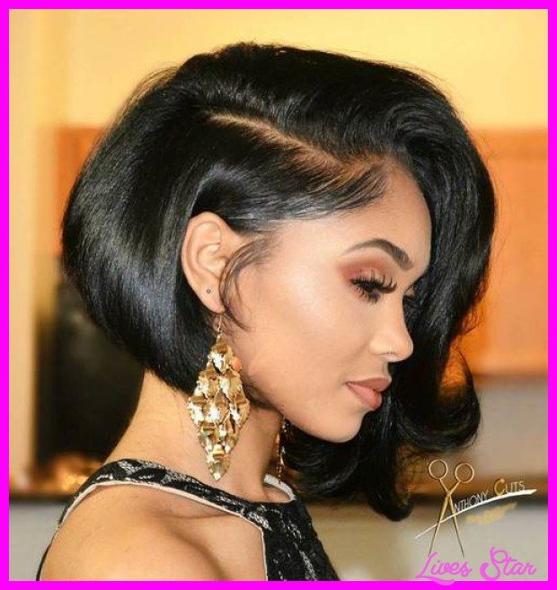 Neck Length Hairstyles brown neck length hair with bangs Cool Neck Length Hairstyles For Black Women