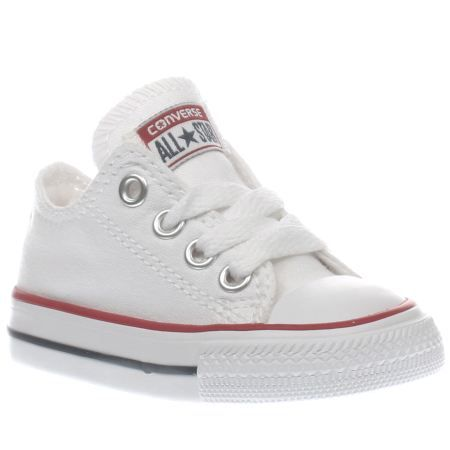7ad624270f0 Kids White Converse All Star Lo Toddler Trainers