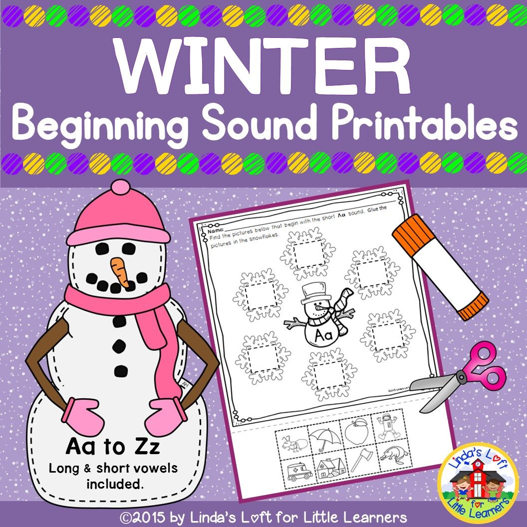 Winter Beginning Sound Printables A To Z