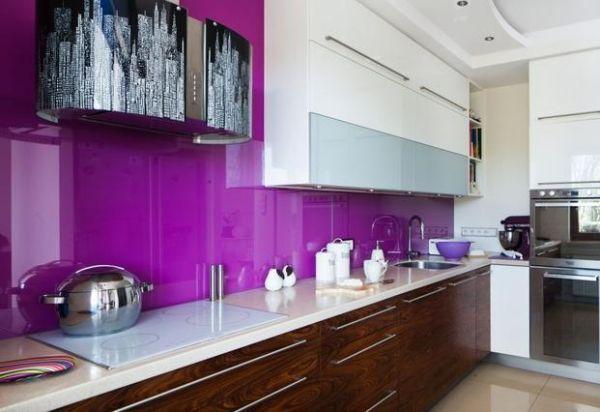 lila Fliesenspiegel Küche Pinterest Shabby, Living rooms and - küche fliesenspiegel glas