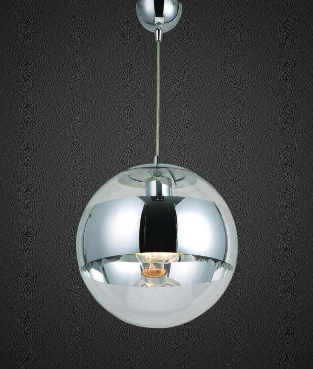 Chrome Mirror Ball Pendants 2 Sizes Glass Pendant Light