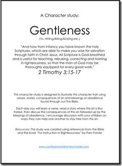 Godly Character Study: Gentleness | Interesting Subjects