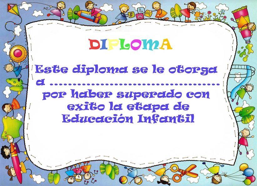 Pin 100 Plantillas Para Diplomas Infantiles Y Preescolares Otros A ...