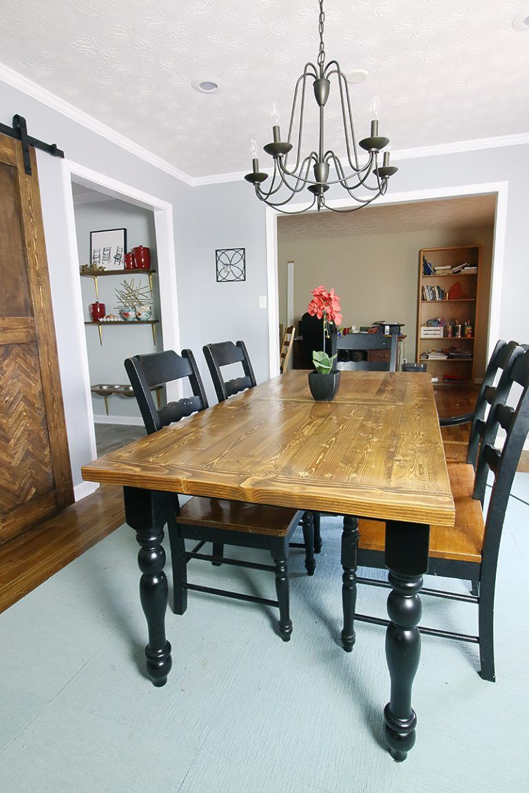 How To Turn A Table Into A Bigger Better Table Bower Power Dinning Table Diy Small Kitchen Tables Dinning Room Tables
