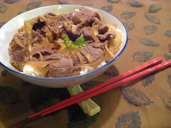 Beef Donburi Asian Recipes Beef Food