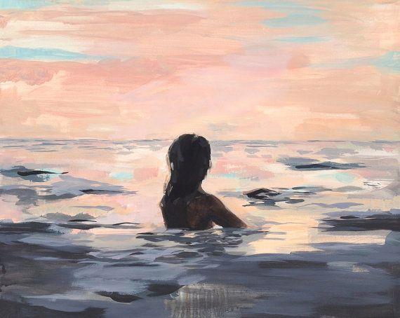 At Sunset . horiztonal / landscape giclee print   Etsy