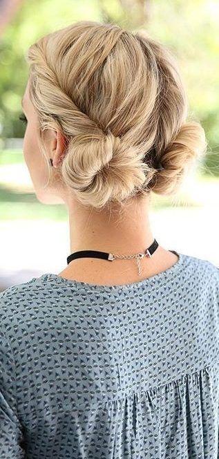34 Space Buns zum Kopieren - Anweisungen zum Erstellen von Space Buns - Hairstyles - Haaar #braidedbuns