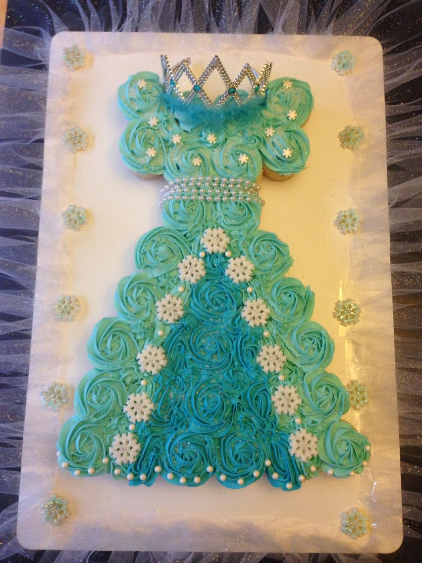 Frozen cupcake dress
