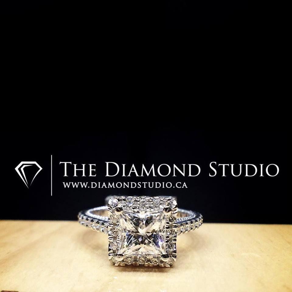 Perfection! #diamond #diamonds #wedding #weddings #engagement #ring #rings #bride #brides #jewellery #jewelry #princess #cut #halo #diamondboi
