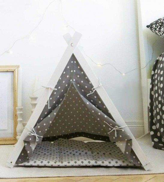 tipi marin bleu et jaune taille standard chien panier. Black Bedroom Furniture Sets. Home Design Ideas