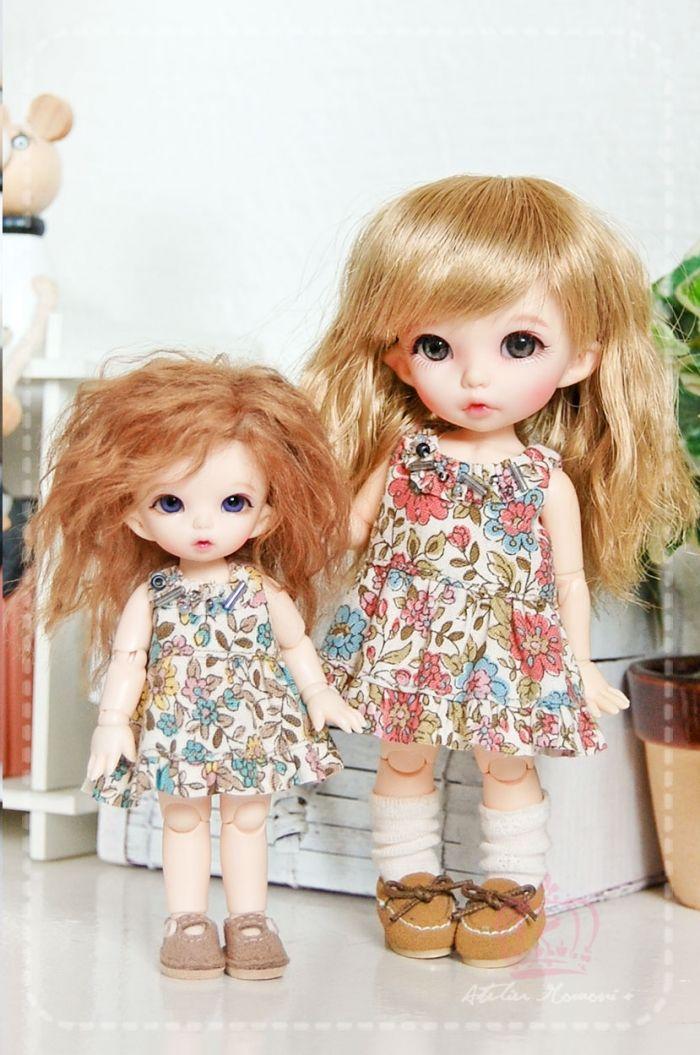 PukiPuki Flowered Summer Dress Pink | PukiPuki Dresses | Atelier Momoni +