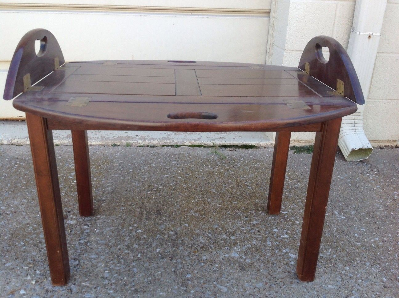 Coffee table with fold up sides in 2020 oval coffee