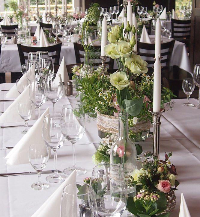 Bezaubernde dekoration f r die tische bei eurer hochzeit wanna marry - Gastronomie dekoration ...