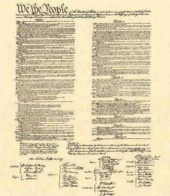 printable constitution | Constitution-Print | American Rights ...