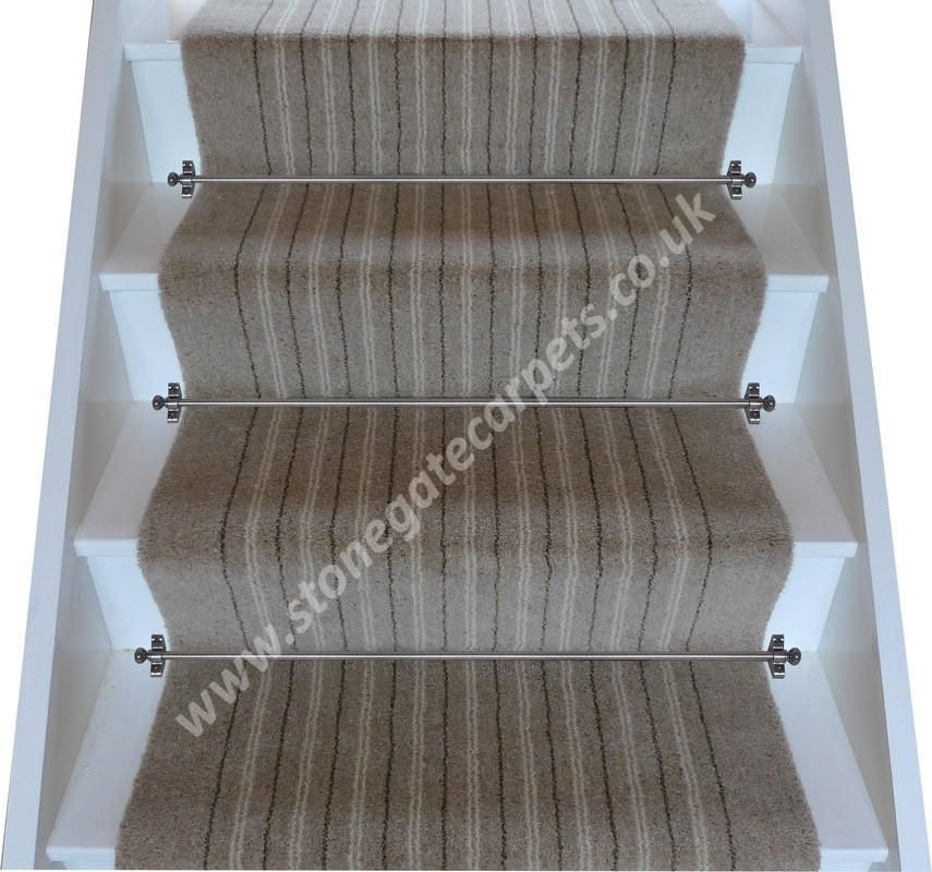 Best Brintons Carpets Pure Living Earth Stripe Stair Runner 3 400 x 300