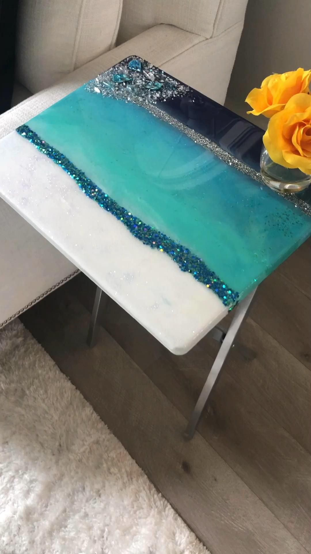 Photo of Resin Tray Table Tutorial