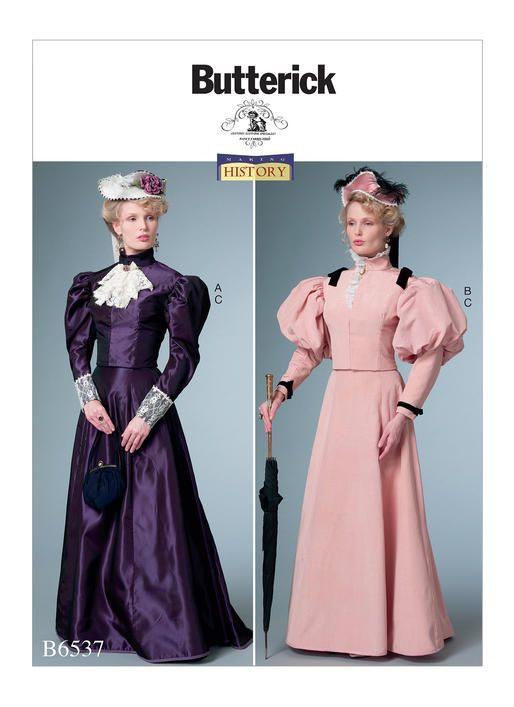 B6537 Butterick Patterns Sewing Patterns Costumes Patterns