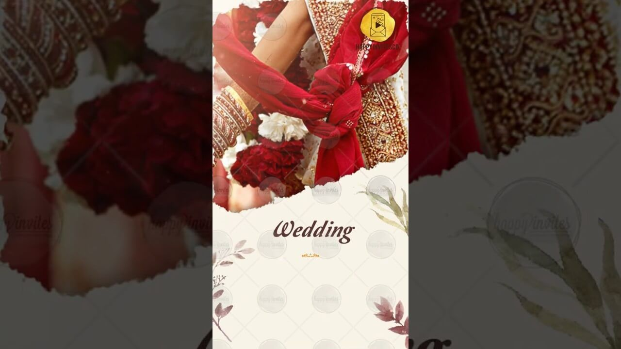 Whatsapp Wedding Invitation Happy Invites Online Video Maker Wedding Invitation Card Design Wedding Invitation Video Wedding Invitations