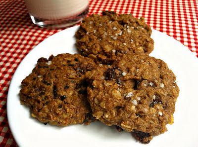 Salty cherry oatmeal cookies: gluten-free, egg-free, low sugar