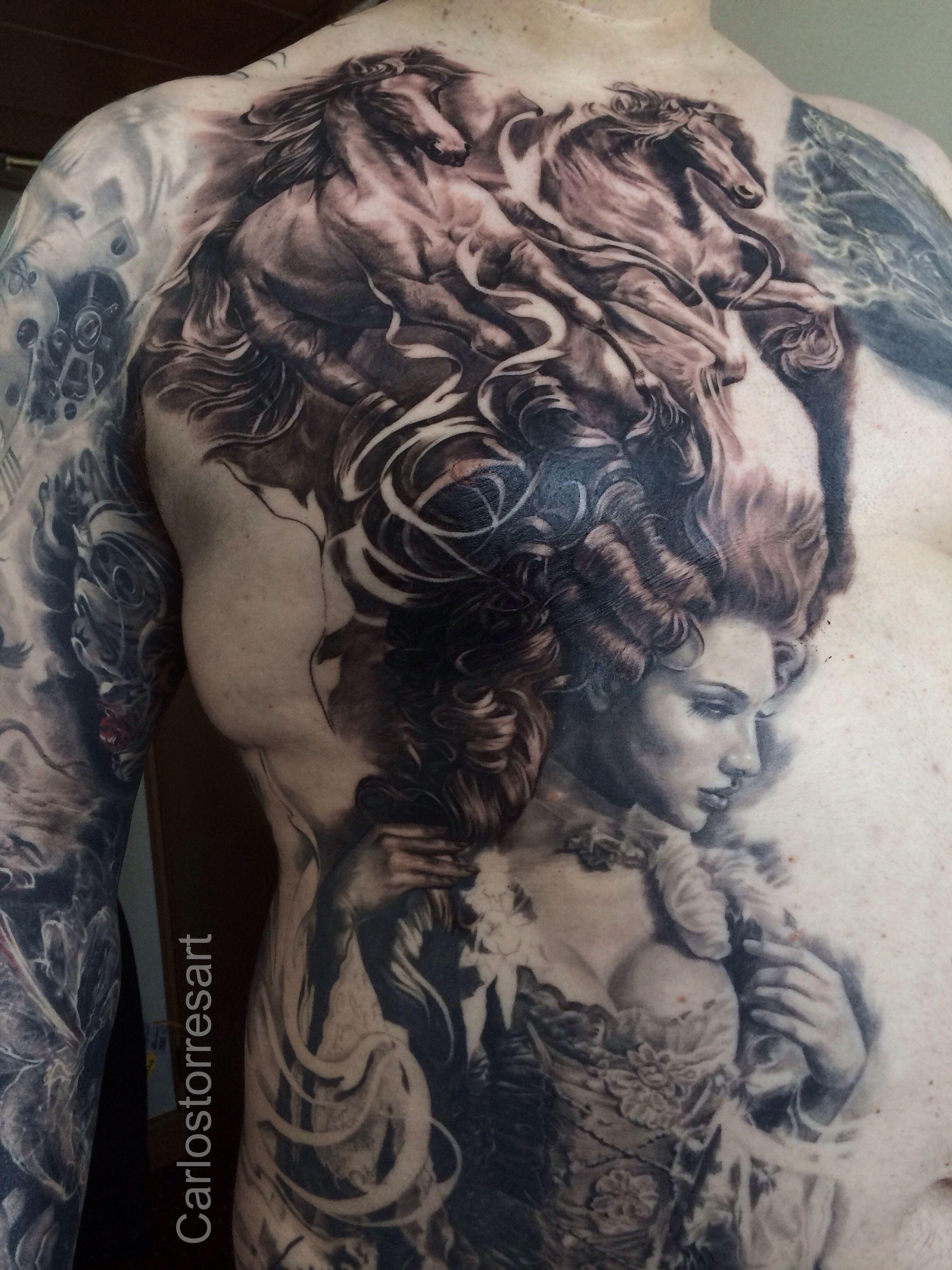 A Better Detailed Shot Tattoo Wildhorses Baroque Fierce Tattoo Tattoos Epic Tattoo