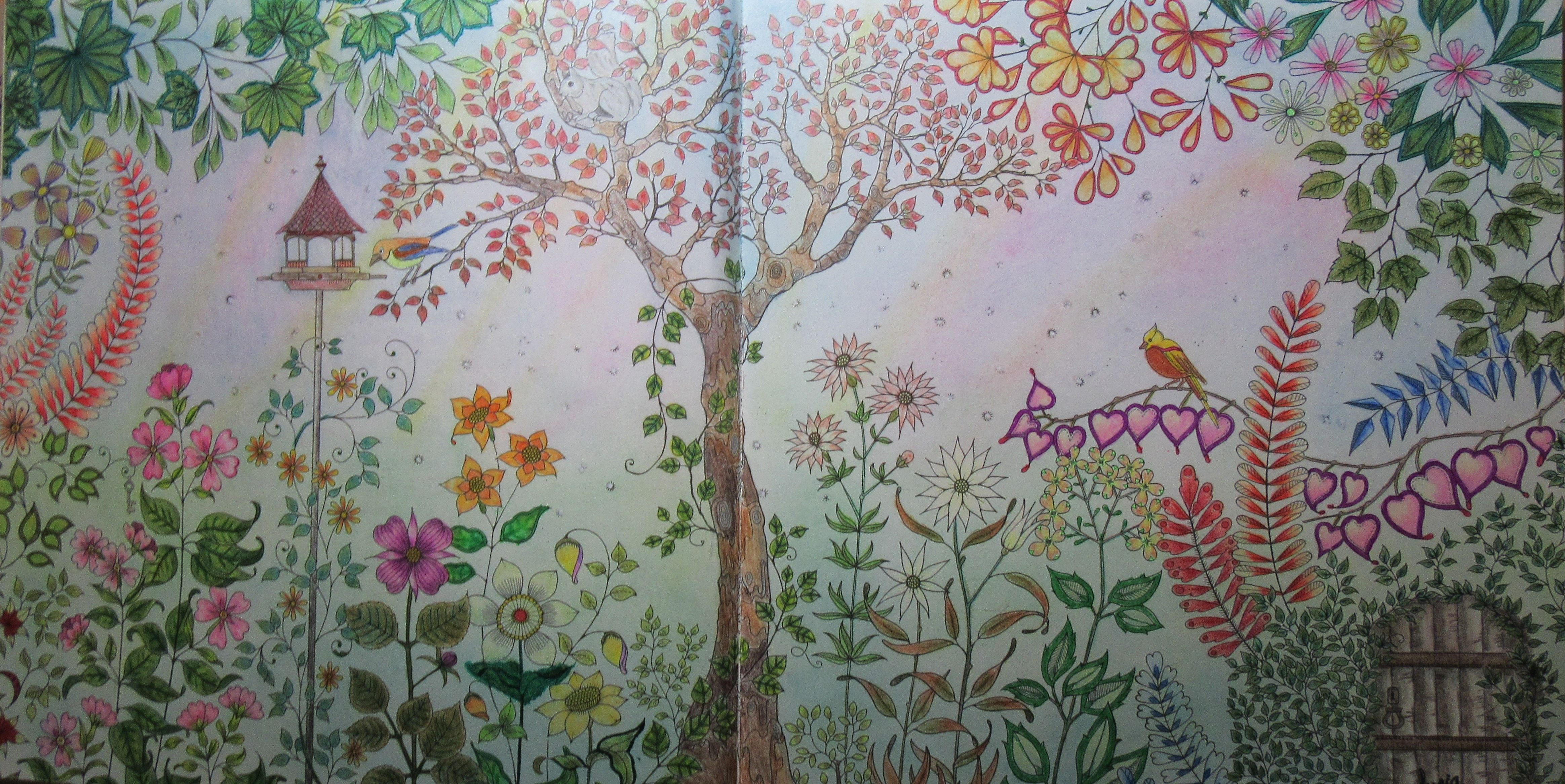 Johanna Basford Secret Garden Coloring Book Done In Prismacolor Premier Pencils Gel Pen And