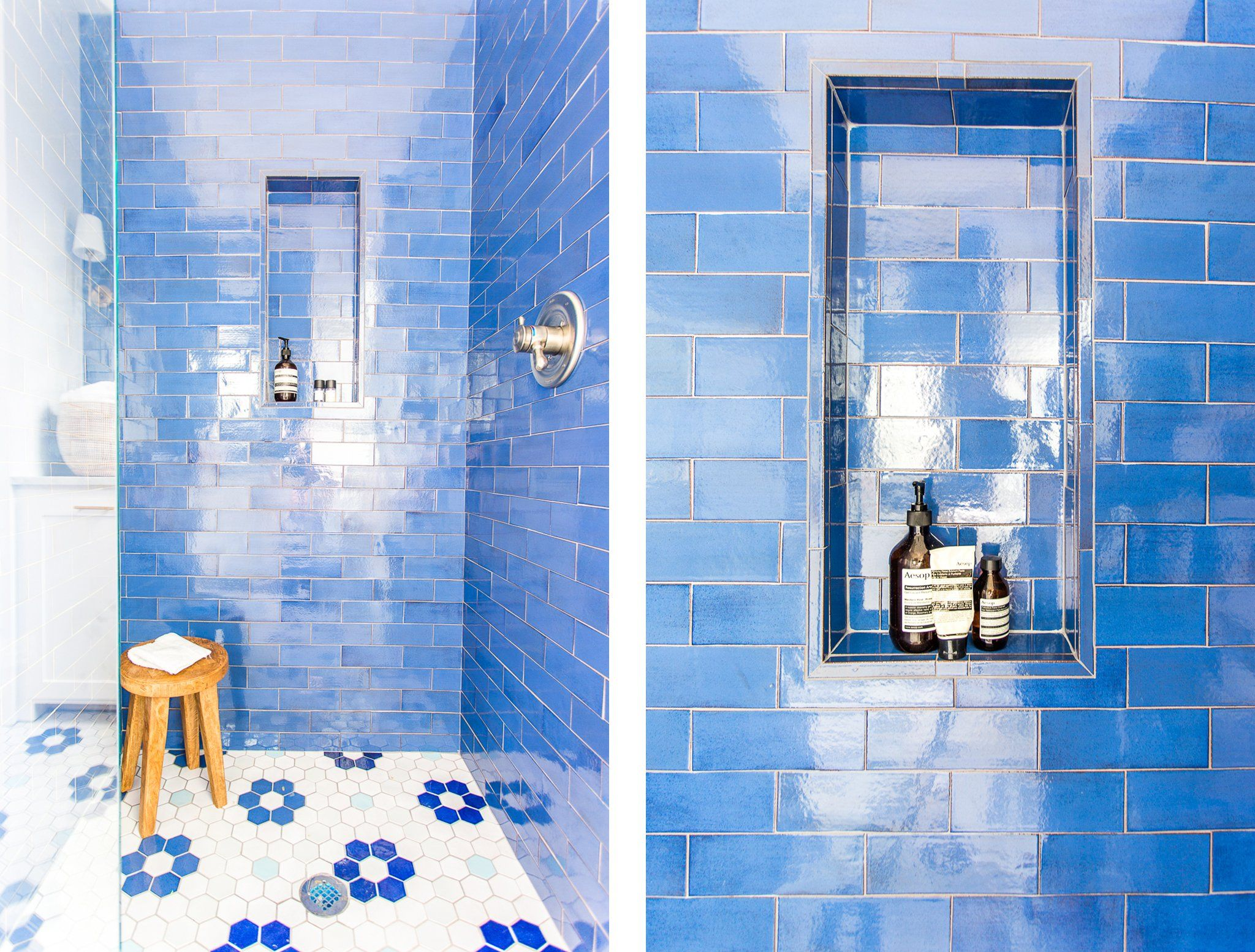 Stunning Sapphire Blue Tile Design For A Small Bathroom Blue Bathroom Tile Tile Bathroom Blue Tiles