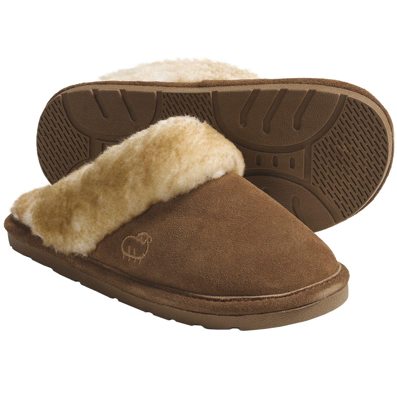 LAMO Footwear Sheepskin Scuff Slippers - Suede (For Women ...