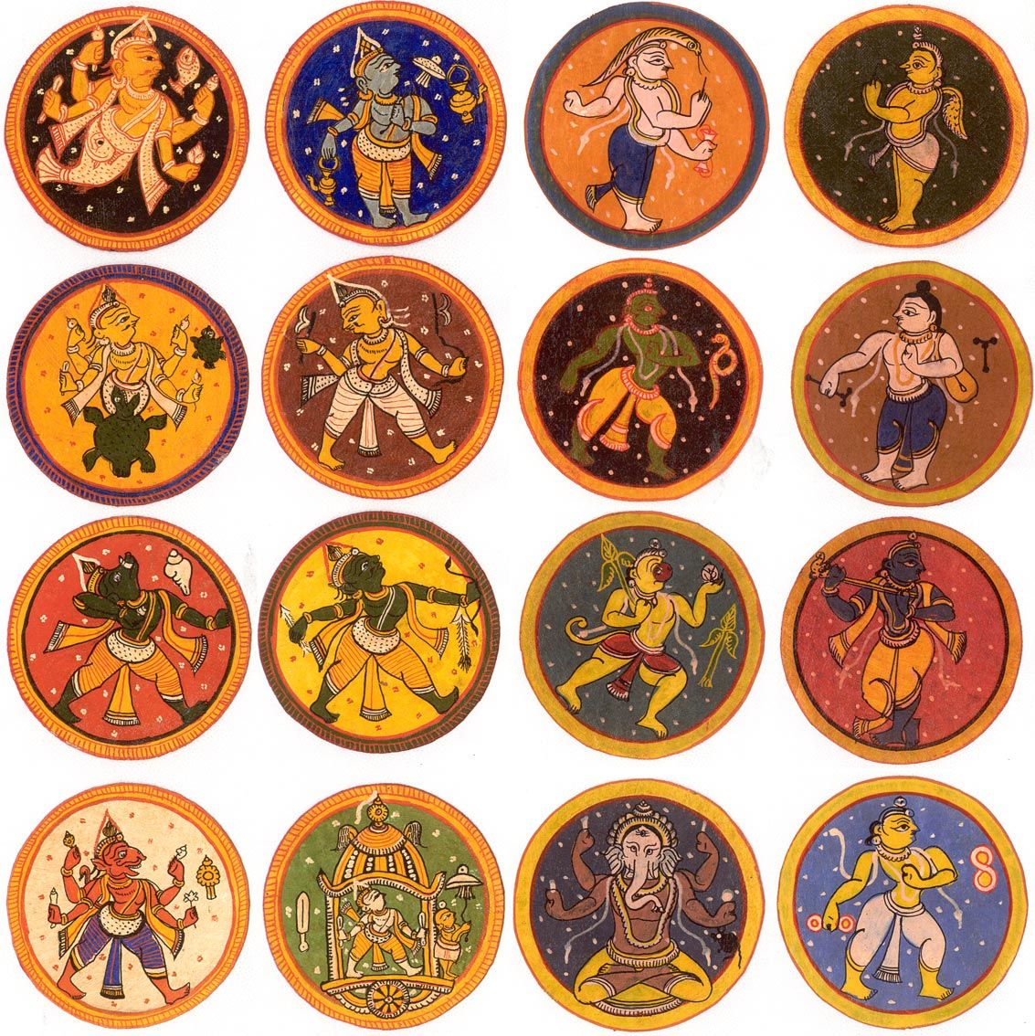 'Ganjifa' is the name given to an ancient Indian card game