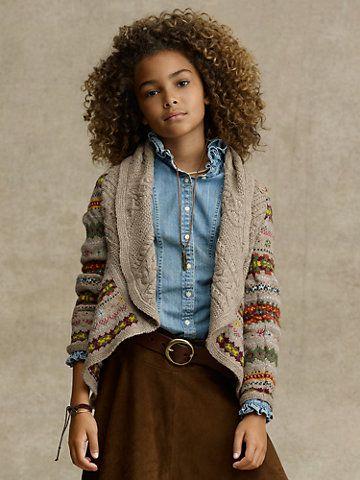 Shawl-Collar Fair Isle Sweater - Sweaters RalphLauren.com | My ...