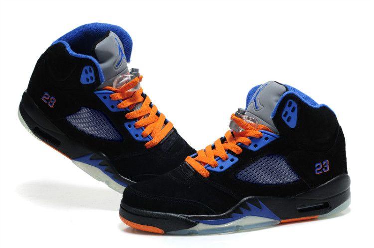 jordan 5 orange and blue