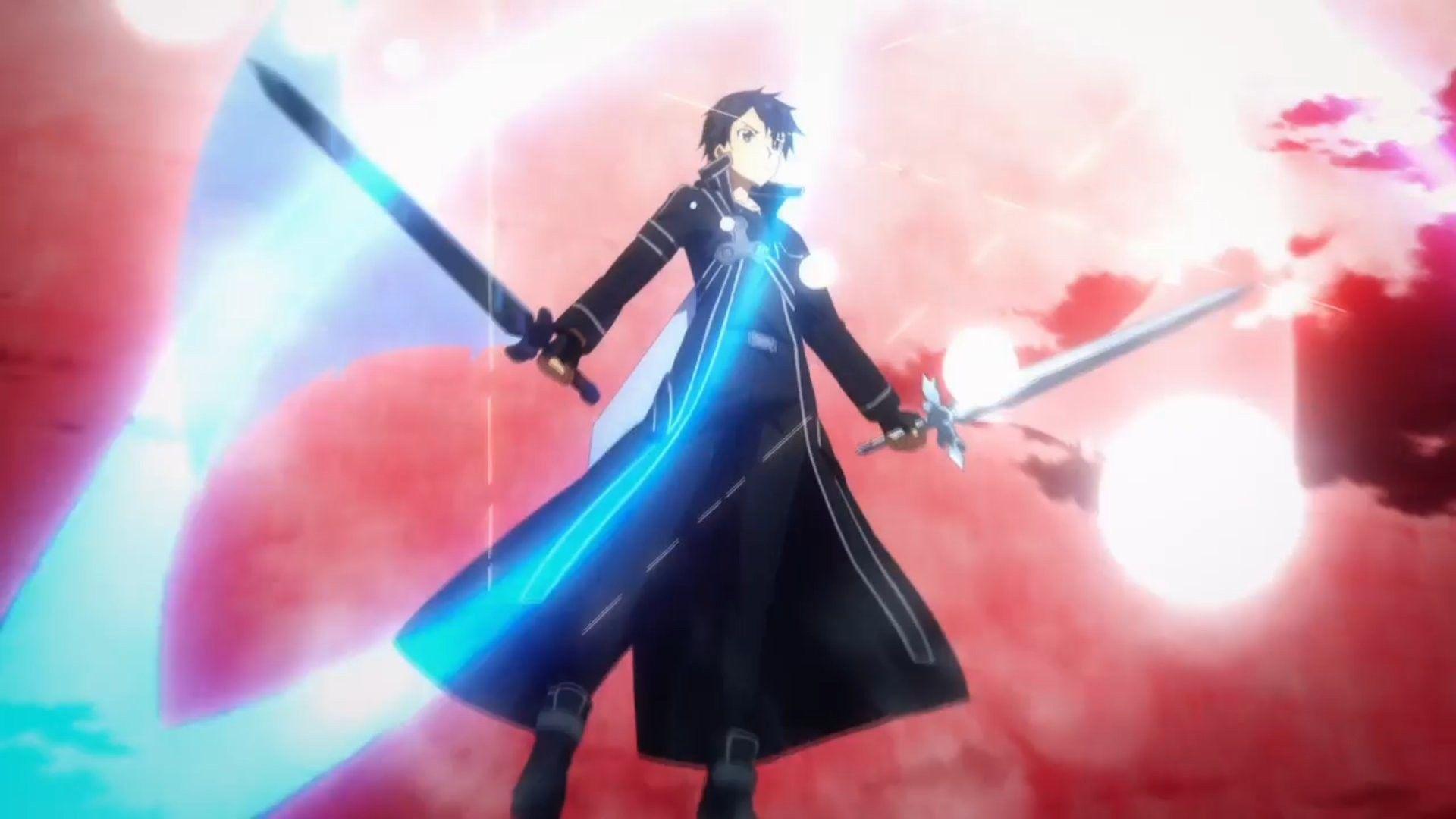 Dual Wielding On Sword Art Online Sword Art Anime Wallpaper