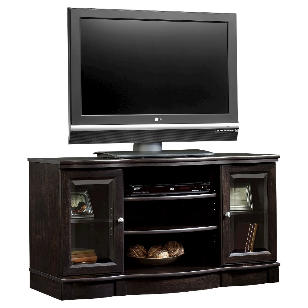 Regent Place Panel Tv Stand Estate Black Sauder Adjustable