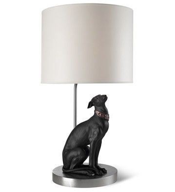 ATTENTIVE GREYHOUND - LAMP I Schledermann Company   Corporate Gifts Client I Employee I Wedding I Event   Schledermann Company
