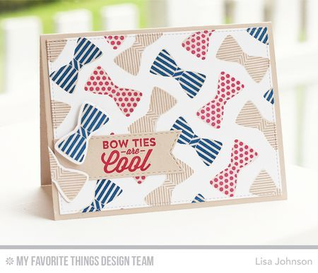 Terrific Ties, Blueprints 24 Die-namics, Stitched Fishtail Flags STAX Die-namics, Terrific Ties Die-namics - Lisa Johnson  #mftstamps